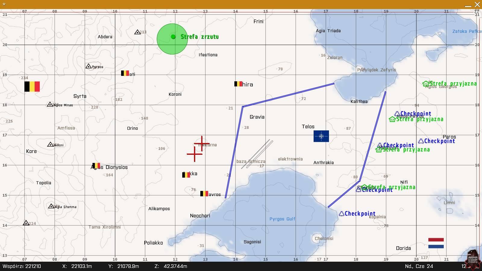 Mapa do COOP 16 Strange Silence