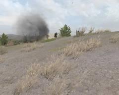 Jules strzela do czołgu