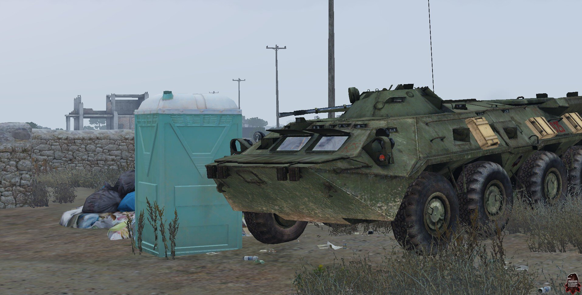 BTR i toaleta
